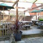 Garden decking area.