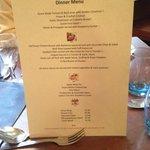 An unimaginative and uninspired menu