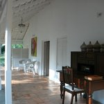 The verandah of the main building