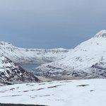 Driving into Seydisfjordur