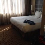 Awesome bed and nice sheers, thank you for not choosing those cheap sheers other hotels have