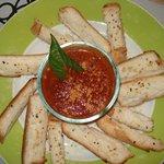 Marinara with Garlic Bread - Delish.