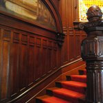 The main stair case was one of the most impressive areas of the house