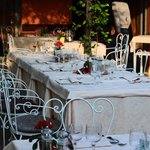 Party table before the group arrived