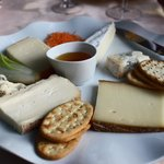 The more than ample cheese plate