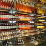 The honey is backlit like fine liquors - clever. :)
