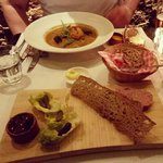 pate and fish soup