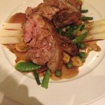 lamb and white asparagus