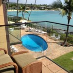 from our lanai - each building has it's own pool