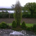 The view from our room at Abbey Court in Kenmare Ireland