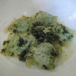 Ricotta & Lovage Ravioli with Brown Butter, lemon & Shallt Dressing