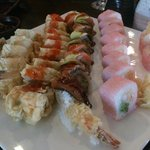 Specialty Rolls! Pink Lady, Fancy Dragon, Hwy 44 and Fuji Roll.