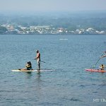 People paddle boarding at Coconut Island