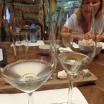 Wine samples at Fairview winery