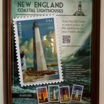 the USPS poster for the 2013 Harbor Light stamp