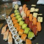 exemple de plateau de sushis et makis
