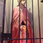 Wooden statue of scourged Jesus (carved by a Redemptorist brother)