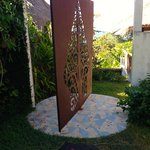 revolving wrought iron entrance