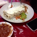 Burrito and chips were so good