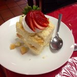 Two layer tres leches was a great dessert