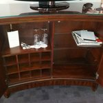 main TV and wine cupboard