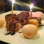 Fried Cheesecake & Sorbet