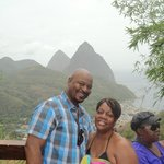 a Great View of the Pitons in the background