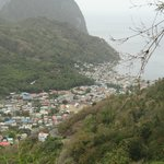 A Great View from afar of one of St. Lucia's great villages.
