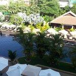 La vista sulla piscina