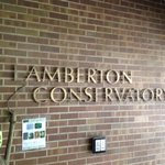 Lamberton Conservatory - Sign at entrance