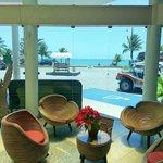 recepção do Hotel Brisa da Praia