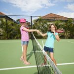 Enjoy a game of tennis without leaving the village.