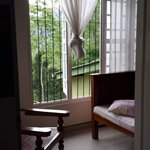 View of room from bathroom