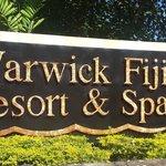 Entrance to the Warwick Fiji Resort