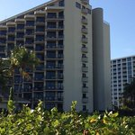 Marco Island Hilton showing Gulf Front Balconies