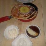 Cinnamon Apple Pancakes with Honeylands Maple Syrup!