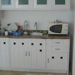 cocina, solo hay microondas