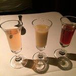 3 of their house made liqueurs; amazing!!