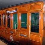 Early underground steam train Carriage