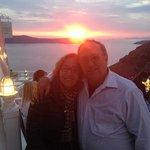 Sunset at Argo Taverna Restaurant in Fira, Santorini