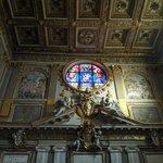 Above the entrance of Santa Maria Maggiore