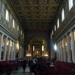 Inside Santa Maria Maggiore church