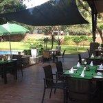 Lovely restaurant garden