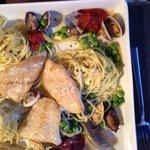Fisch an Pasta