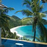 Spectacular view of Anse Intendance from the room.