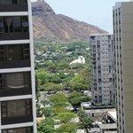 View towards Diamond Head from 18th floor ocean view room