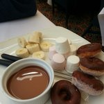 Chocolate fondue-part of afternoon tea
