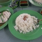 1 plate of chicken rice