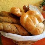 Bread basket at breakfast!