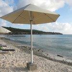 Обустроенный пляж
